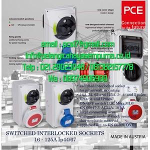 Switch Interlock Socket 16 32 63 125A IP44 IP67 PCE Electric