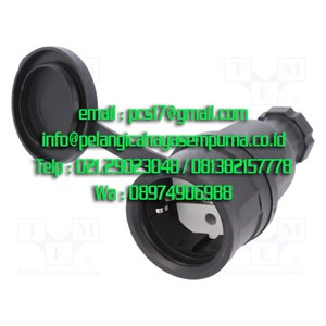 Stop Kontak Karet 16A 250V 2P+E IP44 PCE