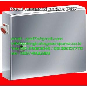 Panel mounted socket IP67 400V Mennekes