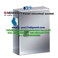 Panel Mounting Socket IP44 230-250V 16A