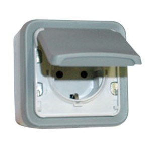 Socket outlet Plexo IP55 German standard 16A 2P+E 69733