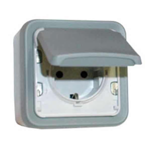Plexo IP56 69733 Socket outlet German standard 16A 2P+E