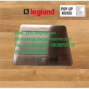 Legrand 54020 Stop Kontak Lantai Stainless Steel 3 Module
