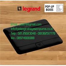 Legrand 54026 4 Module Pop-Up Floor Box Matt Black Stop Kontak Lantai Stop Kontak Meja