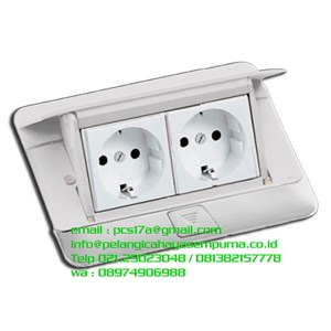 Pop-up Floor Boxes 4 Module Glossy White
