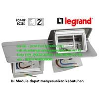 Legrand Stop Kontak Lantai 6 Module Pop-Up Floor Boxes 54012