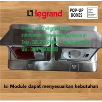 Legrand Pop-Up Floor Boxes 6 Module Stainless 54022