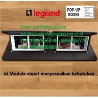 8 Module Pop-Up Boxes Black 54028 Stop Kontak Lantai Stop Kontak Meja Legrand