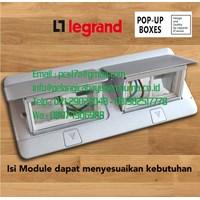 Legrand Stop Kontak Lantai 8 Module Aluminium 54013