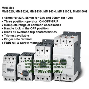 Meta Mec Manual Motor Starter 32 up to 100A and 100kA