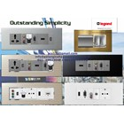 Multimedia Panel Wall Plate Legrand HDMI VGA Audio Video Telephone Network Hubs and Switch Audio Visual 3