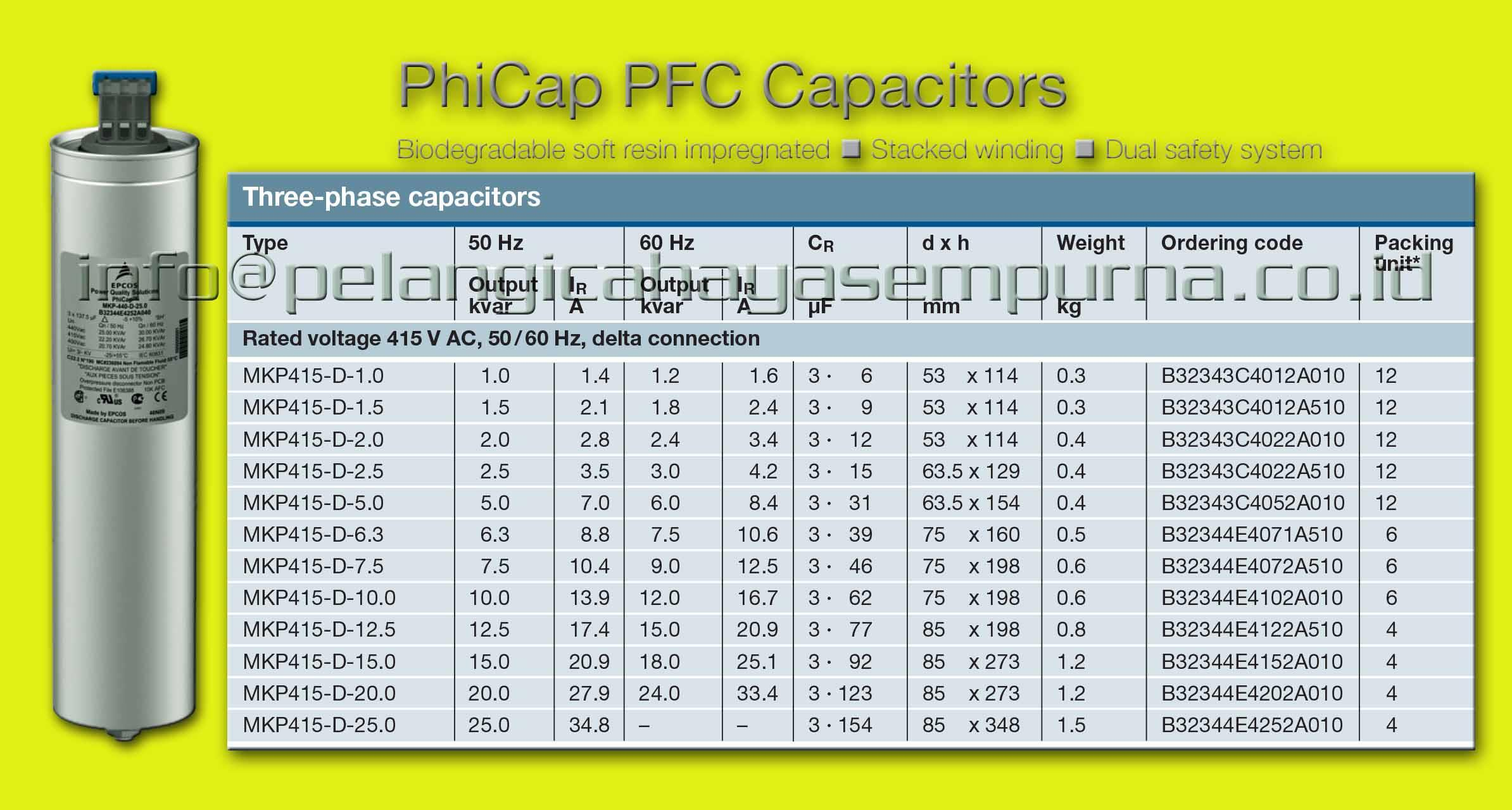 Sell Epcos Capacitor Mkp415 Epcos Capacitor Bank Mkp415