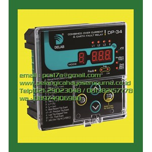 Delab DP34 Combined Over current & Earth Fault Relay