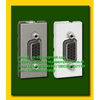 Female HDMI VGA Legrand wall frame floor sockets atau lantai dan meja kerja atau meja rapat HD15 Connector Kabel Audio dan Video