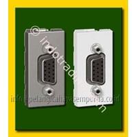 Jual Female HDMI VGA wall frame floor sockets atau lantai dan meja kerja atau meja rapat HD15 Connector Kabel Audio dan Video 2