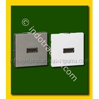 Distributor Female HDMI VGA wall frame floor sockets atau lantai dan meja kerja atau meja rapat HD15 Connector Kabel Audio dan Video 3