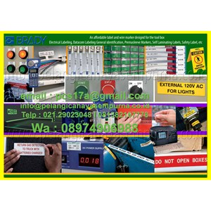 Brady Label Printer Maker Cable Industri Network  Glow In the Dark Aplication
