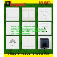 Grid Switch 4 6 Gang Saklar Stop Kontak Dimmer Stop kontak Water proof Switch Socket Outlet