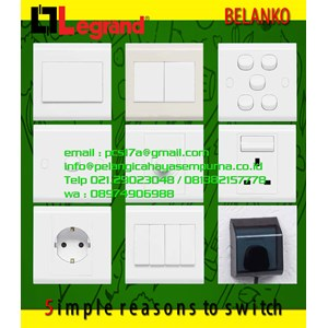 Grid Switch 4 6 Gang Saklar Stop Kontak Dimmer Stop kontak Water proof Switch Socket Outlet