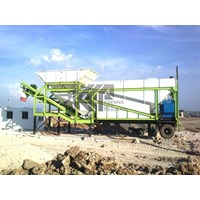 Jual Mobile Concrete Batching Plant Dry Mix System Big Silo