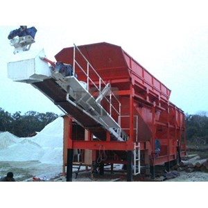 Mobile Concrete Batching Plant Dry Mix System Big Hopper