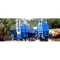 Cetakan Beton Portable Concrette Batching Plant Dry Mix System 1