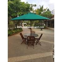 Payung Taman Jati Sunbrella Forest Green  1