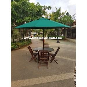 Payung Taman Jati Sunbrella Forest Green