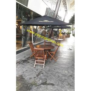 Payung Taman Jati Sunbrella Sablon