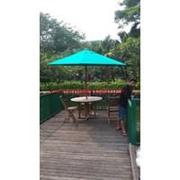 Payung Taman Jati Sunbrella Hijau  1