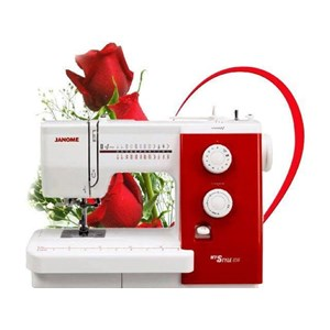 Dari Janome MyStyle 500 Mesin Jahit Portable - Merah Putih 0