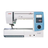 Janome mc8900qcp Quilting SE Mesin Jahit Quilting Komputer Long Arm Model - Biru Putih