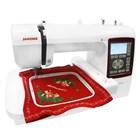 Janome Mc230e Embroidery Machine Compute Portabler - Red White 6