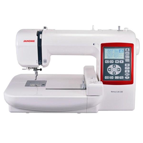 Janome Mc230e Embroidery Machine Compute Portabler - Red White