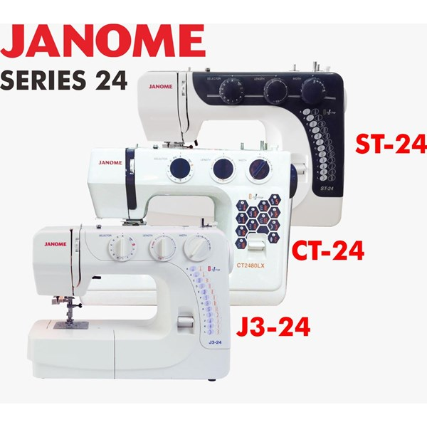 Janome series 24 (st-24 ct2480lx  J3-24) mesin jahit portable kwalitas heavy duty