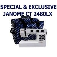 Janome ct2480lx Mesin jahit Portable kelas heavy duty - Putih Biru Dongker  1