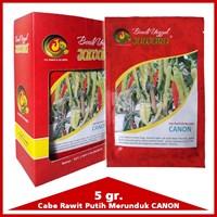 Jual Benih Cabe rawit putih  CANON  5 gr. 2