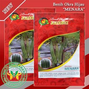 Benih bibit Okra hijau MENARA 5 gr.