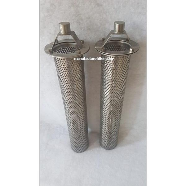 Stainless Steel Basket Strainer Oil Filter Woven Merk DF FILTER PN. DF200-100-700