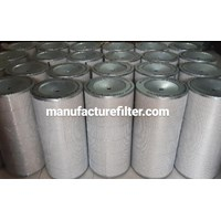 Filter Udara Kompressor / Cylindrical Dust Cartridge Filter Merk