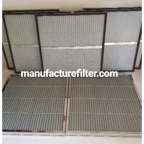 "Metal Frame Pleated Panel Filter Type G4 Merk ""DF FILTER"""
