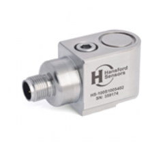 HS-104S Series Low Power M12 Connector 50 mVg Industrial Accelerometers side entry