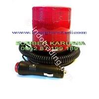 Lampu Rotari Magnet 4 inch Merah 1