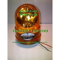 Lampu Rotary Diamond 24V Amber 6 inch