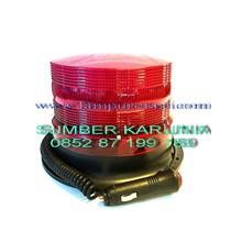 Lampu Rotari LED 6 inch Merah.