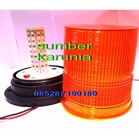 Lampu Rotari LED 6 inch Amber 12V - 24V 1
