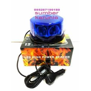 Strobo 12V Biru 12 Flash