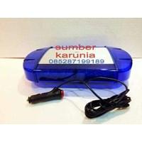 Lampu Led  Strobo Polisi Biru - Biru 12V Magnet