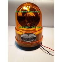 Dari Lampu Blitz Polisi Federal Signal 4 inch Magnet 12V 5