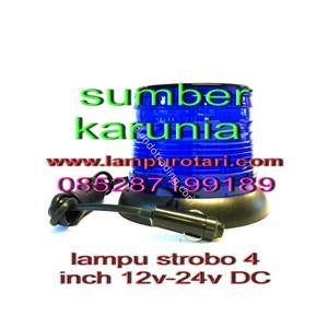 Lampu Strobo 4 Inch Biru 24V